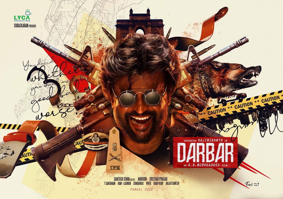 darbar first look poster